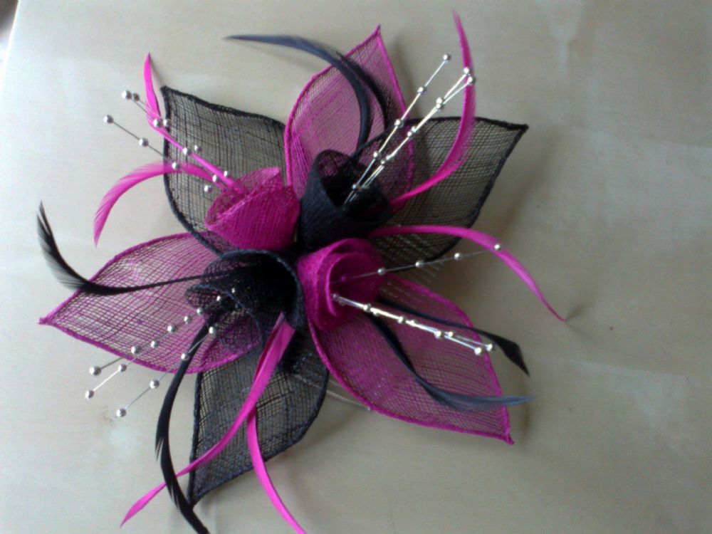 Desire Accessories Handmade Sinamay & Feather Fascinators Wedding Prom Party Races(1)